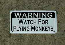 WATCH FOR FLYING MONKEYS Metal Sign 4 Bar Man Cave Home Theatre Movie Room Decor