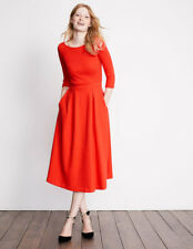 BODEN New Holly Textured Dress - Red - UK 6 - Winter 2017/18