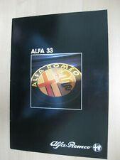 Alfa Romeo 33 prestige brochure Prospekt German text Deutsch 24 pages 1985