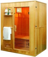 "New 60"" 2/3 Person Canadian Hemlock Wet Dry Steam Spa Sauna + 6Kw Heater Upgrade"