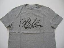 "POLO RALPH LAUREN Men's Custom-Fit Grey ""Polo RL"" Graphic T-Shirt S"