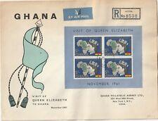 1961 Ghana oversize FDC coverVisit of Queen Elizabeth II