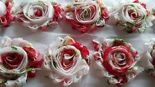 "wholesale 2.5"" shabby flower chiffon trim 1 yard ROSE FLOWER for headband, bows"
