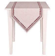 Clayre /& Eef Tischläufer Tischdecke Tischtuch Rot 50*140 cm Baumwolle CAS64R