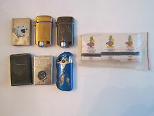 (6) COLLECTIBLE LIGHTERS - 2 ARE DALE EARNHARDT & MORE -  TUB ABB