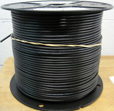 RG-58/U Coaxial Cable #20 AWG Copper Conductor and Shield 1000 Feet - Black JSC