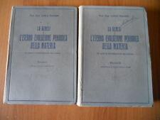 Palmeri LA GENESI E L'ETERNA EVOLUZIONE PERIODICA DELLA MATERIA 2 vol. IRES 1935