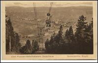 Oberwiesenthal Sachsen Postkarte ~1920/30 Personen Seil Schwebebahn Panorama