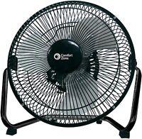 "Comfort Zone CZHV9B 9"" High-Velocity 3-Speed Floor Fan"