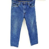 Levis 505 Straight Leg VINTAGE 36x30 Dark Wash 1980s Regular Fit Jeans Denim