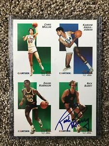 Rick Barry Hall of Fame Golden State Warriors Autographed Card