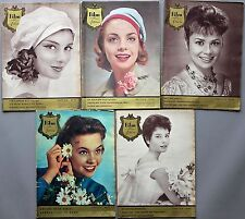 5x Zeitschrift>Film und Frau<1958 Konvolut # 731