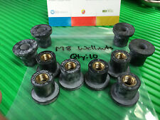 Wellnuts Metric M8 Rubber Well Nuts bag of 10
