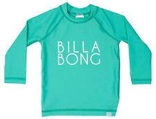 BILLABONG GIRLS (2) WET SHIRT RASHIE RASH VEST BEACHY DAYZ BLUE LONG SLEEVE