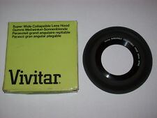 VIVITAR WIDE ANGLE COLLAPSIBLE RUBBER 49MM LENS HOOD  FOR 24MM 28MM 35MM LENSES