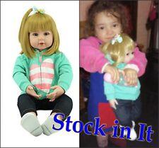 "19""Bambole Rinascere Sale Reborn Baby Doll Lifelike Silicone Bambole Gifts IT"