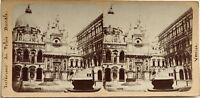 Palais Ducale Venezia Italia Fotografia Stereo Vintage Albumina