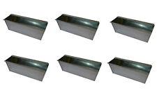 6X Blumenkasten für Europalette Balkonkasten Einsatz Pflanzkasten Zink 35,5cm