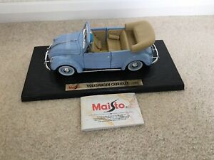 VOLKSWAGEN CABRIOLET MAISTO SPECIAL EDITION 1:18 NEW BLUE 1951 BOX FREE POST UK