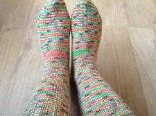 New Hand knitted wool socks women's ladies size 4-5 70% wool, bed socks, warm