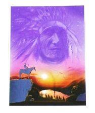 Alu-Bild Indianer-Geist,Cowboy Pferd Western Saloon Deko 16x21 Alubild Cowboy