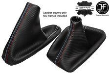 BIANCA CUCITURE CARBON VINILE CUFFIA LEVA E FRENO PER BMW E36 E46 91-05 M///