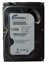 "Sonnics 1.5TB 3.5"" INCH SATA INTERNAL HARD DISK DRIVE 64MB PC CCTV DVR"
