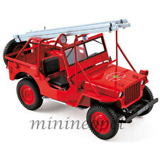 NOREV 189012 1988 JEEP FIRE DEPARTMENT VEHICLE 1/18 DIECAST MODEL CAR RED