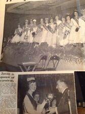 B1-3 Ephemera 1961 Picture Susan Pape Essex Rams gate Carnival Queen Of Queens