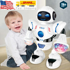 Toys for Boys Electric Walking Robot LED Lights Musical Cool Baby Kids Xmas Gift