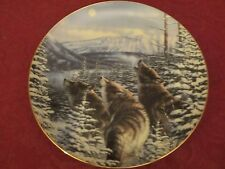 Wolf collector plate Michael Sieve - Wolves Wildlife