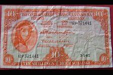 Lady Lavery 10 shilling = Irish banknote 3/1/62