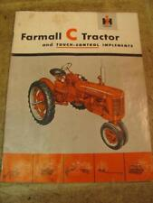 International Farmall C Tractor and Touch Control Implements Sales Brochure