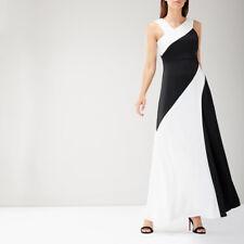 BNWT COAST Macie Black Mono Panelled Maxi Evening Dress Ball Gown Size 18 £159
