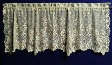 "Lace Window Valance Ivory Sheer Elegance 61"" x 23"" Livingroom Bedroom"