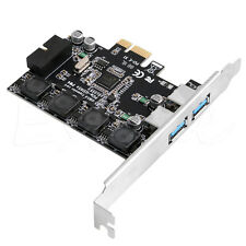 2 Ports USB3.0 +USB Header 19pin PCI-e Card Adapter PCI Express to 20Pin