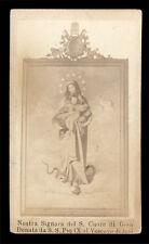 santino fotografico di fine '800 N.SIGNORA S.CUORE DI GESU' PIO IX VESCOVO JESI