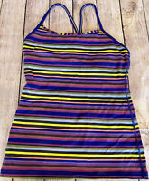 Lululemon Womens Striped Tank Top Size 6 -Yoga Gym Workout