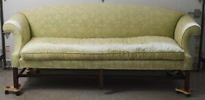 Kittinger Williamsburg Mahogany Chippendale Sofa CW 118 Needlepoint Fabric
