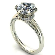 2.00 ct Round Diamond With Royal Neck Engagement Ring Valentine's Day Gift