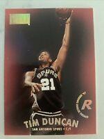 TIM DUNCAN 1997-98 SKYBOX PREMIUM ROOKIE BASKETBALL CARD #112 RC SPURS