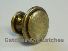 4 x Antique Brass Knobs Handles 30mm Kitchen Bedroom Cabinet Doors Drawers