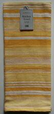 DII Kitchen Dish Tea Towel ~ Yellow & White Striped
