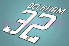 AC Milan Beckham #32 2008-2009 Homekit Nameset Printing