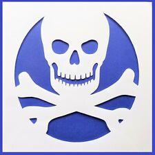 Flexible Stencil *SKULL* Cross Bones Pirate Warning Card Making 10cm x 10cm