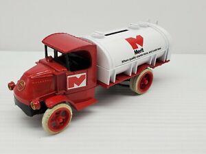 Merit Fuels 1926 Mack Bull Dog Fuel Tanker Truck Bank VTG Model Toy ERTL Replica