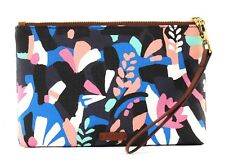 FOSSIL Embrayage Medium Wristlet Bag Black Floral