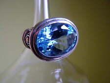 Ring 925 Silber Blautopas Größe 58 massiv Neu