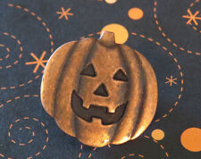 Jack-O-Lantern Brooch Copper Halloween Pin Jack O Lante