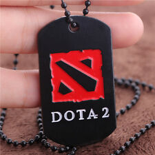 Dota 2 Stainless Steel Chain Pendant Necklace Pendant Dog Tag Collectible Gift